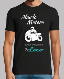 biker nonno su bianco