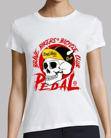 bikers courageux crâne rouge