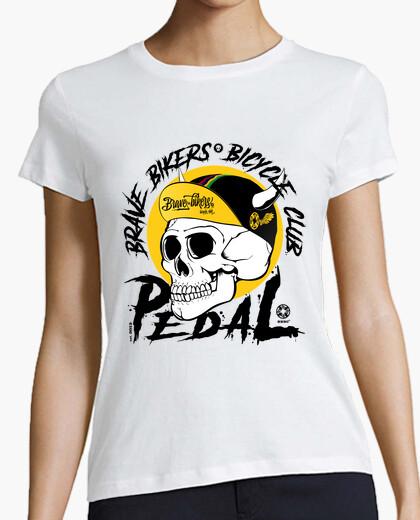 Tee-shirt bikers courageux noir du crâne