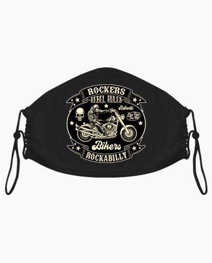 Mascarilla Bikers Rockabilly Vintage...