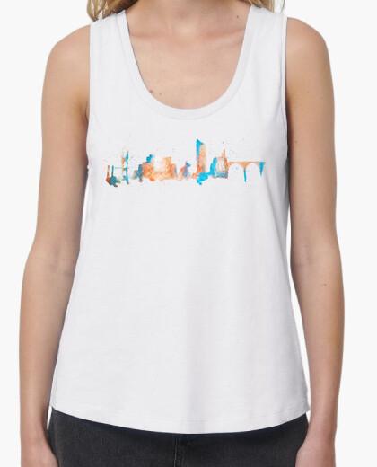 T-shirt bilbao bretelle ragazza bianca