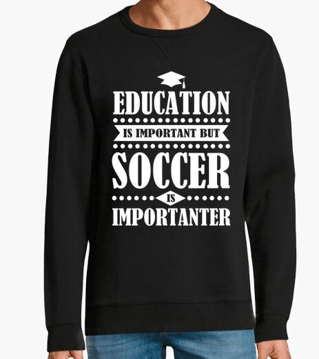 Hoodie Bildung ist wichtig aber Fußball ist Ko