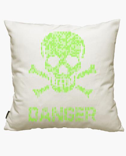 Binary danger alert cushion cover