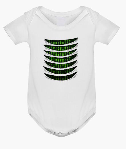 Kinderbekleidung binärer code in