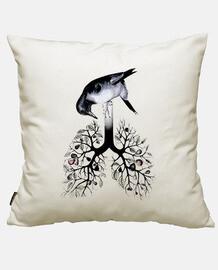 bird, flower, tree and animals