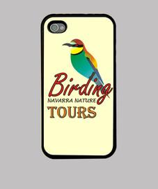 Bird watching. Funda para Iphone Birding navarra nature tours logo.
