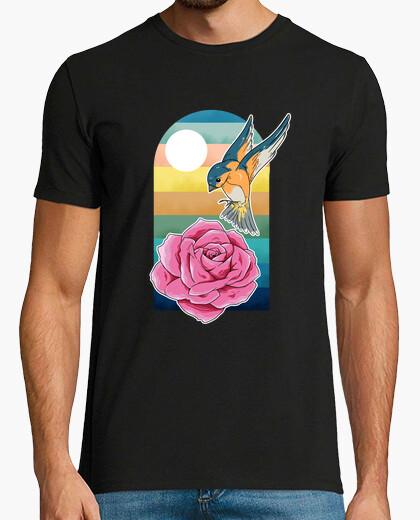Camiseta Birds and flowers