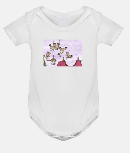 birds kamikazee body baby white