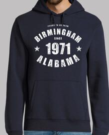 Birmingham Alabama since 1971