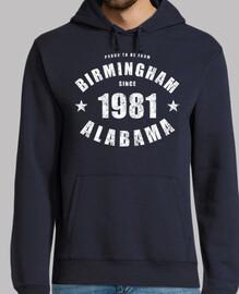 Birmingham Alabama since 1981
