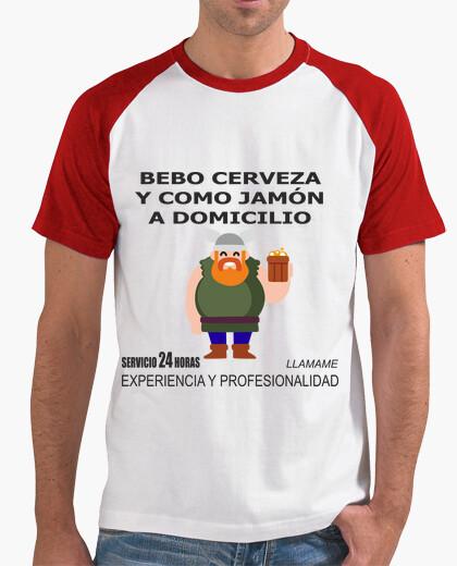 T-shirt birra e prosciutto