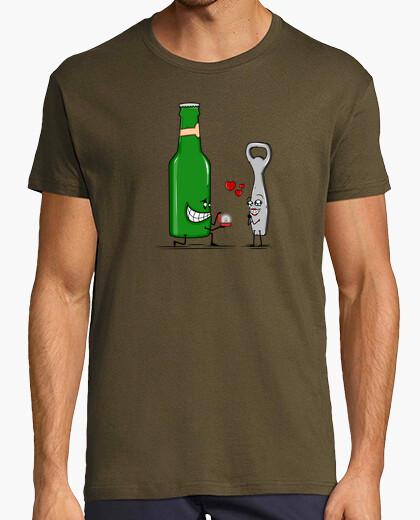 T-shirt birra romanticismo