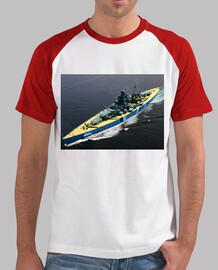 Bismarck Sailing. Camiseta béisbol hombre