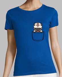 Bison volant poche - shirt femme