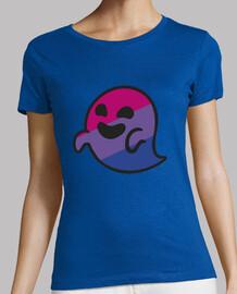 Bisper Bisexual Ghost. Mujer, manga corta, azul cielo, calidad premium