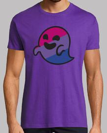 bisper fantôme bisexuel. homme, manches courtes, violet, qualité extra