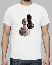 Black And White Chess Pawns Tee