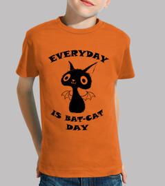 black cat - children shirt