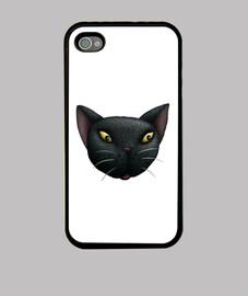 Black Cat Face iPhone 4