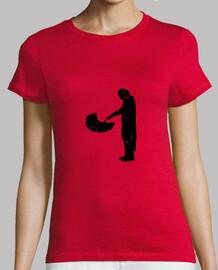 black mandalorian woman short sleeve