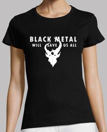 Black Metal Ajustada Negra Chica