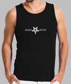 BLACK METAL Chico, sin mangas, negra