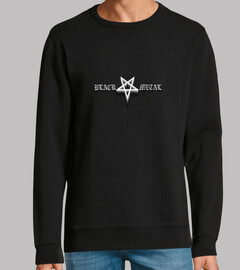 black metal sweatshirt, black