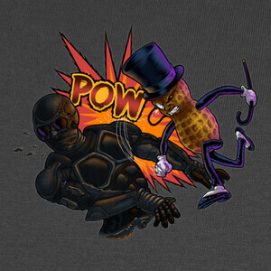 Tee-shirts Black Noir VS Mr. Peanut