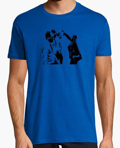 Camiseta Black Power Hombre, manga corta, azul royal, calidad extra