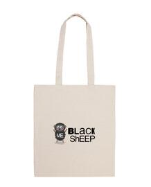 Black sheep, oveja negra, Bolsa de tela, color natural