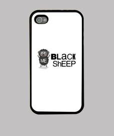 Black sheep, oveja negra, Funda iPhone 4, negra