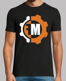 black shirt - logo front