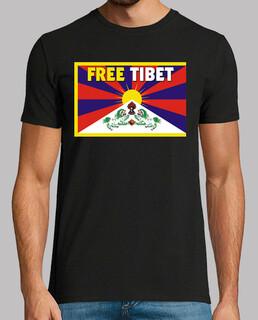 black shirt manga short unisex - free tibet