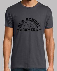black shirt old school gamer