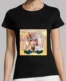 Black short sleeve t-shirt for women