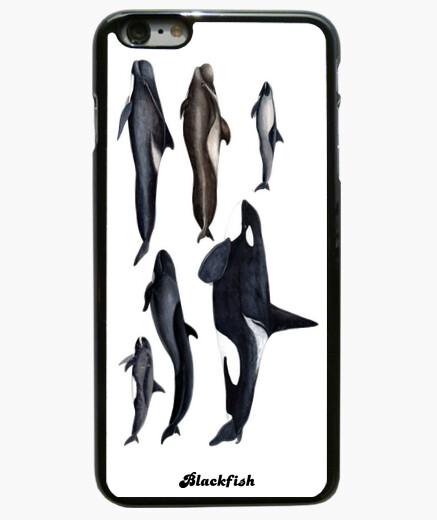 Coque Iphone 6 Plus / 6S Plus blackfish: orcas et les baleines pilotes, plus iphone6 sleeve