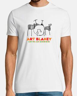 blakey di arte. uomo, manica corta, bianco, qualità extra