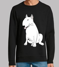 blanc bull terrier