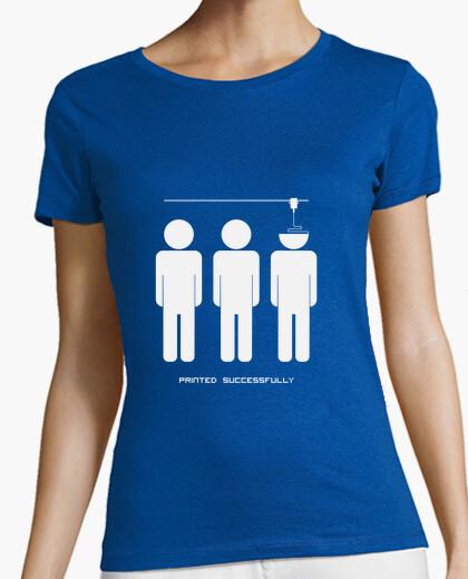 Tee-shirt blanc imprimé avec succès (m)