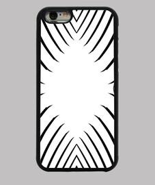 Blanco y Negro, diseño abstracto y moderno Funda iPhone 6, negra,