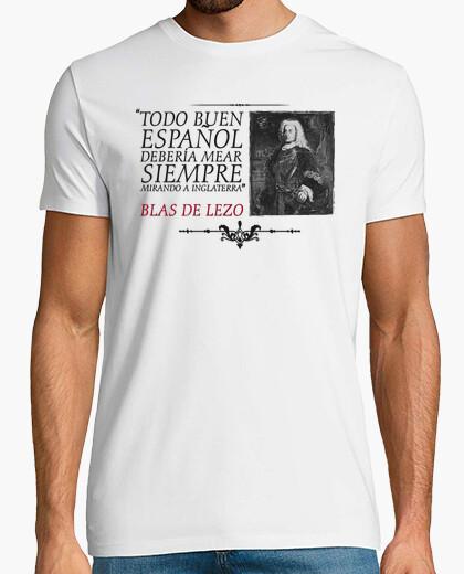 Camiseta Blas de Lezo. Fondo claro. Camisa