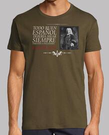 Blas de Lezo. Fondo oscuro. Camisa