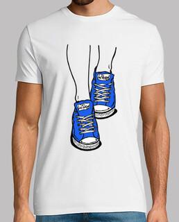 blaue pantoffeln