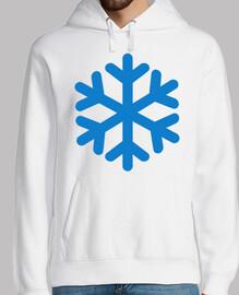 blaues Schneesymbol