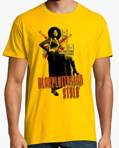 Camiseta Blaxploitation. Pam Grier.