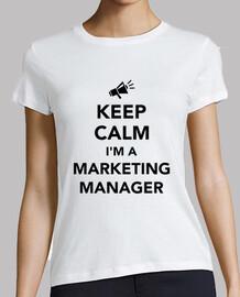 Bleib ruhig ich bin ein Marketingmanage
