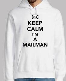Bleib ruhig ich bin ein Postbote
