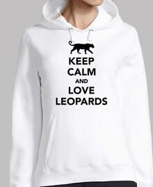 Bleib ruhig und liebe Leoparden