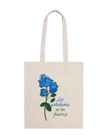 bleu fleur rose