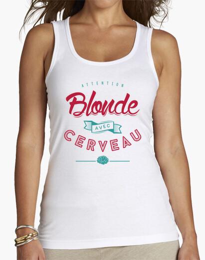 Tee-shirt Blonde avec Cerveau